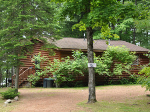 Cabin exterior at Sandy Point Resort and Disc Golf Ranch.