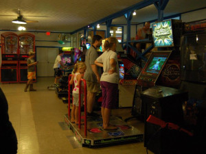 Video arcade at Lake Ridge Resort.