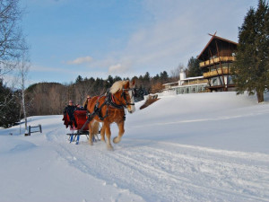 Sleigh rides at Stowehof Inn & Resort.