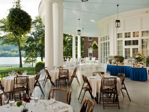 Patio dining at The Otesaga Resort Hotel.