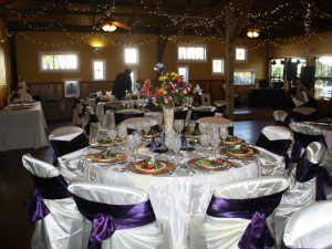 Wedding Reception at Canyon Lake Cabins & Cottages