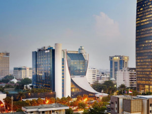 Exterior view of Gran Melia Jakarta.