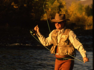 Fishing at Nine Quarter Circle Ranch
