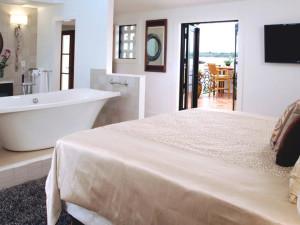 Guest bedroom at Black Dolphin Inn.