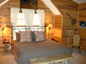 Guest Room at The Cabins at Seven Foxes