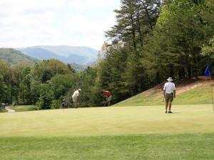 Golfing at Mountain Shadows Resort.