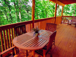 Covered spacious decks to enjoy your morning coffee!