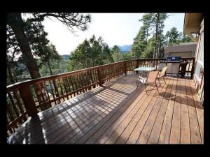 Rental deck at The Casas of 4 Seasons.