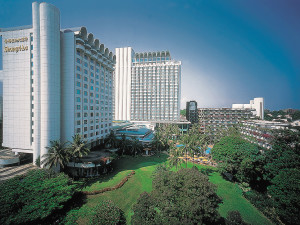 Exterior view of Shangri-La Hotel-Singapore.