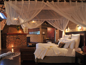 Guest room at Zwahili Game Lodge.
