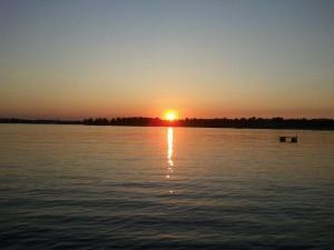 Sunset at Crimson Hue Resort.