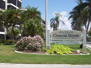 Exterior view of Crescent Royale Condominiums.