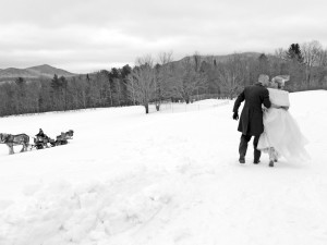 Winter wedding at The Mountain Top Inn & Resort.