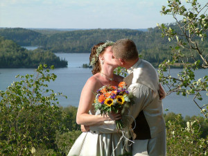Wedding at Gunflint Lodge.
