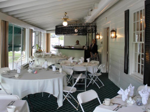 Porch dining at Water Gap Country Club.