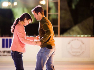 Ice skating near Canyon Lake Resort.