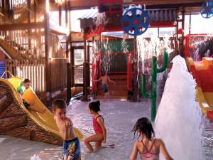 Indoor waterpark at Rocking Horse Ranch Resort.