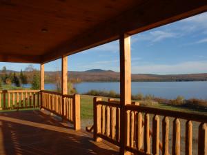 Cabin deck at Cabins at Lopstick.