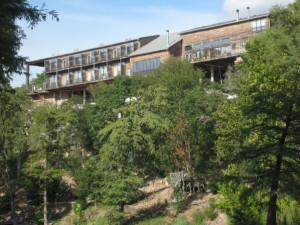 Exterior view of Gruene River Inn.