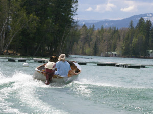 Boating at Lake Five Resort.