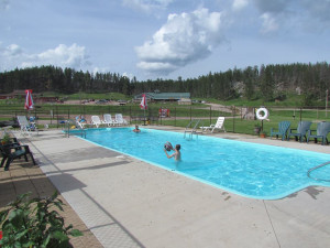 Swimming pool at High Country Guest Ranch.