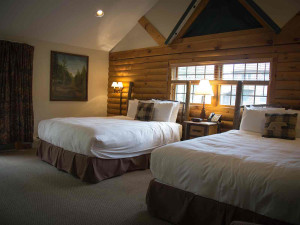 Two bed guest room at Emerson Resort & Spa.