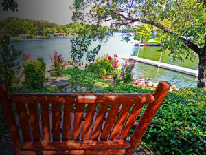 Garden view at Log Country Cove.