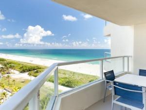 Balcony view at Miami Beach Marriott at South Beach.