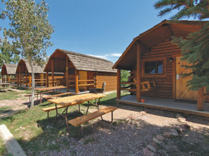 Cabins at Colorado Springs KOA.