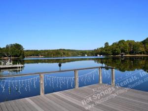 Lake view at Hot Springs Village Rentals.