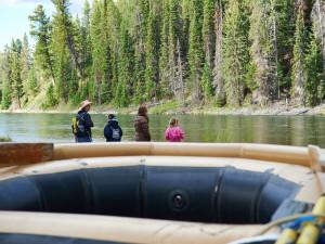 Family rafting at Jackson Lake Lodge.