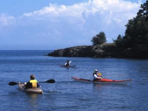Water activities at Superior Shores Resort.