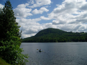 The lake at The Cabins on Harvey's Lake.
