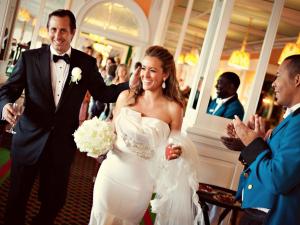 Wedding couple at Grand Hotel.