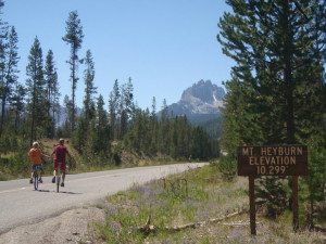 Biking at Redfish Lake Lodge.