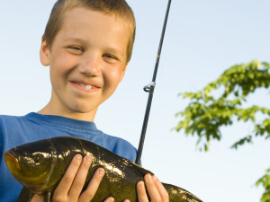 Kids love fishing at The Country Place Resort.