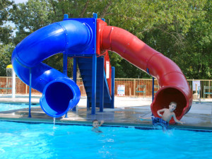 Water slide at Branson Vacation Houses.