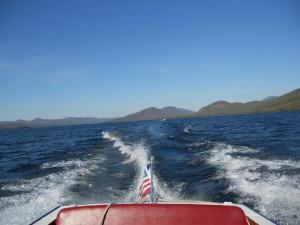Boating at Twin Bay Village.