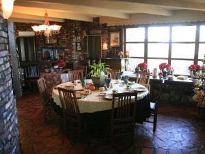 Breakfast room at Brickhaven Bed & Breakfast.