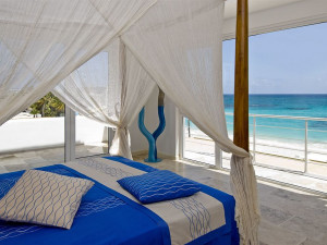 Vacation rental cabana at Coral Beach Club.