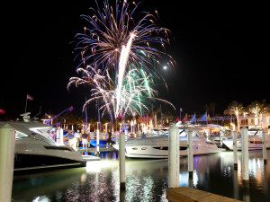 Fireworks at South Seas Island Resort.