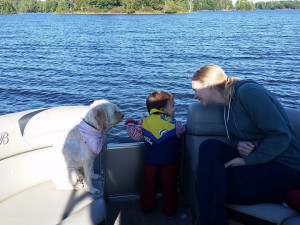 Family fishing at Spooky Bay Resort.
