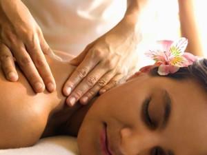 Spa massage at Oakwood Resort.