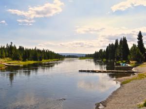 Fishing dock near Sawtelle Mountain Resort.
