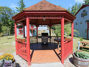Gazebo at Attitash Mountain Village Resort.