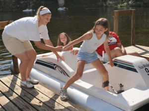 Water activities at Lake George RV Park.