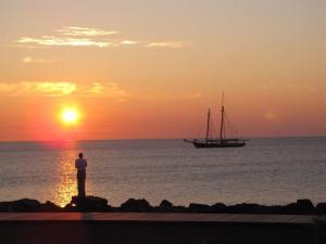 Sunset at Hampton Inn Duluth.