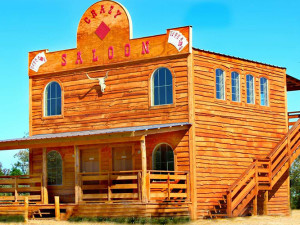 Crazy Saloon at Diamonds Old West Cabins.