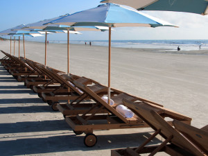 Beach chairs at One Ocean Resort & Spa.