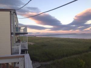 Balcony view at Sea View Inn.